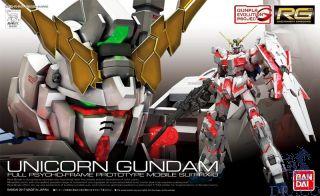 Unicorn Gundam Full Psycho-Frame Prototype Mobile Suit RX-0 1/144 [Bandai RG Gundam #25]