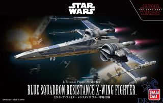 Blue Squadron Resistance X-Wing Fighter 1/72 [Bandai Star Wars - The Last Jedi]