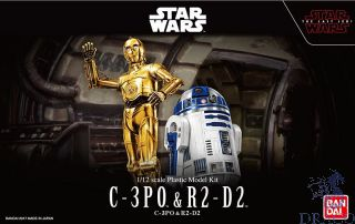 C-3PO & R2-D2 1/12 [Bandai Star Wars - The Last Jedi]