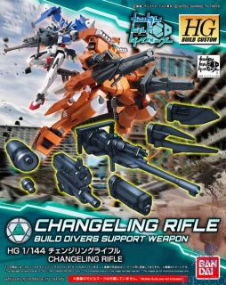 Changeling Rifle Build Divers Support Weapon 1/144 [Bandai HGBC Gundam #035]