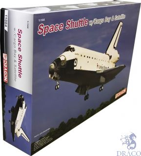 Space Shuttle w/Cargo Bay & Satellite 1/144 [Dragon]