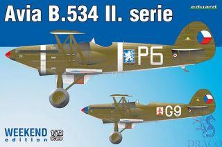 Avia B.534 II. serie (Weekend Edition) 1/72 [Eduard]