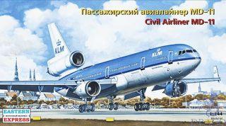 Civil Airliner MD-11 KLM 1/144 [Eastern Express]