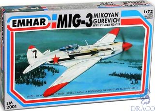 MIG-3 Mikoyan Gurevich - WWII Russian Fighter 1/72 [Emhar]