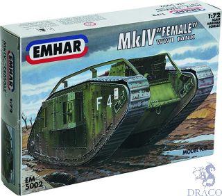"MkIV ""Female"" - WW1 Heavy Battle Tank 1/72 [Emhar]"