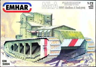 "MkA ""Whippet"" - WW1 Medium A Tank 1/72 [Emhar]"