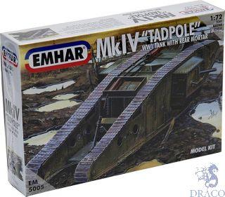 "MkIV ""Tadpole"" - WW1 Tank With Rear Mortar 1/72 [Emhar]"