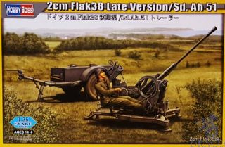 2cm Flak38 Late Version/Sd.Ah 51 1/35 [HobbyBoss]