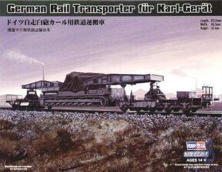 German Rail Transporter for Karl-Gerät 1/72 [HobbyBoss]