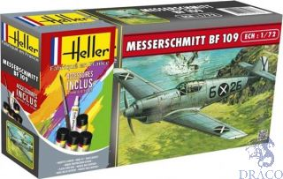 Messerschmitt Bf 109 Starter Kit 1/72 [Heller]