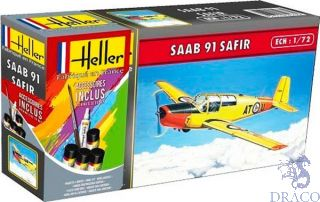 Saab 91 Safir Starter Kit 1/72 [Heller]