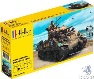 """M4A2 Sherman """"Division Leclerc"""" 1/72 [Heller]"""
