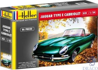 Jaguar Type E Cabriolet 1/24 [Heller]