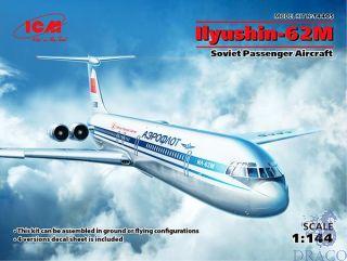Ilyushin-62M Soviet Passenger Aircraft 1/144 [ICM]