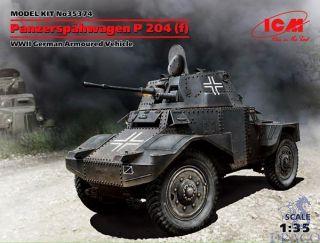 Panzerspähwagen P 204 (f) - WWII German Armoured Vehicle 1/35 [ICM]