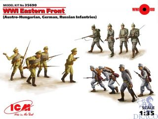 WWII Eastern Front (Austro-Hungarian, German, Russian Infantries) 1/35 [ICM]
