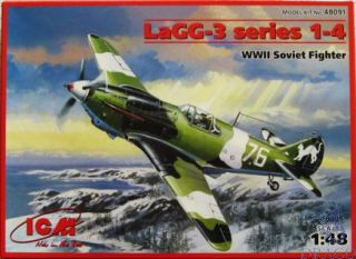 LaGG-3 series 1-4 WWII Soviet Fighter 1/48 [ICM]