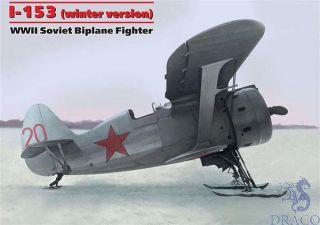 I-153 (winter version) WWII Soviet Biplane Fighter 1/48 [ICM]