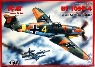 Bf 109F-4 WWII German Fighter 1/48 [ICM]