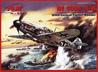 Bf 109 F-4/B WWII German Fighter-Bomber 1/48 [ICM]