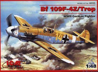 Bf 109 F-4Z/Trop German Fighter 1/48 [ICM]