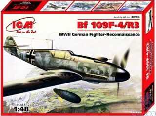 Bf 109 F-4/R3 WWII German Fighter-Reconnaissance Plane 1/48 [ICM]
