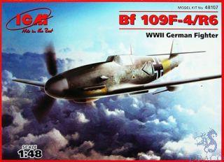 Bf 109 F-4/R6 WWII German Fighter 1/48 [ICM]