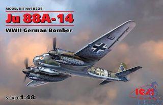 Ju 88-14 WWII German Bomber 1/48 [ICM]