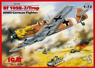 Bf 109 E-7/Trop WWII German Fighter 1/72 [ICM]