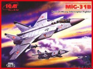 MiG-31B Russian Heavy Interceptor Fighter 1/72 [ICM]