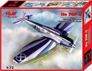 He 70F-2 Spanish Air Force Recconaissance Plane 1/72 [ICM]