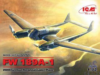 FW 189A-1 WWII German Reconnaissance Plane 1/72 [ICM]