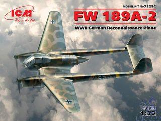 FW 189A-2 WWII German Reconnaissance Plane 1/72 [ICM]