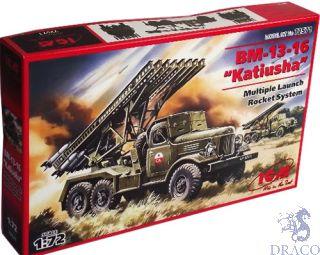 """BM-13-16 """"Katiusha"""" Multiple Launch Rocket System 1/72 [ICM]"""