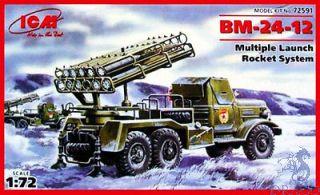 BM-24-12 Multiple Launch Rocket System 1/72 [ICM]