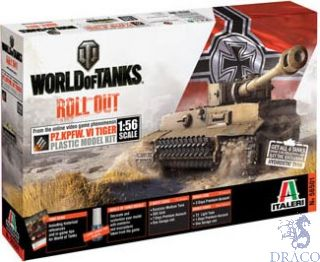 World of Tanks Roll Out - Pz. Kpfw. VI Tiger Limited Edition 1/56 [Italeri]