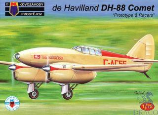 """de Havilland DH-88 Comet """"Prototype & Racers"""" 1/72 [AZmodel]"""