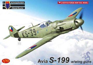 Avia S-199 w/Wing Guns 1/72 [AZmodel]