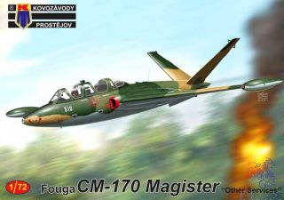 """Fouga CM-170 Magister """"Other Services"""" 1/72 [AZmodel]"""