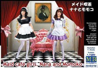 Maid Cafe Girls. Nana and Momoko 1/35 [Master Box]