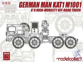 German MAN KAT1M1001 8*8 High-Mobility Off- Road Truck 1/72 [ModelCollect] [ModelCollect]