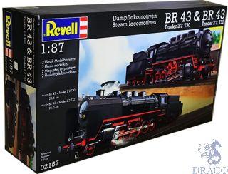 Steam Locomotives BR43 Tender 2´2 T30 + BR43 Tendrer 2´2 T32 1/87 (H0) [Revell]
