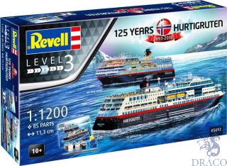 125 Years Hurtigruten 1893-2018 MS Trollfjord & MS Midnatsol Gift Set  [Revell]