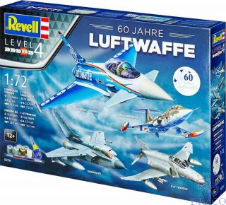 60th Anniversary German Luftwaffe Gift Set 1/72 [Revell]