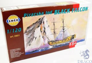 Pirátska loď Black Falcon  1/120 [Smer]