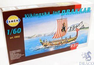 Vikingská loď Drakkar  1/60 [Smer]