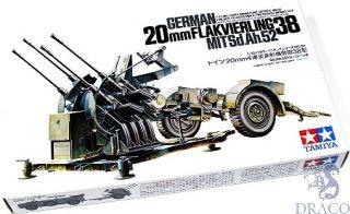 German 20mm Flakvierling 38 MITSd.Ah.52 1/35 [Tamiya]