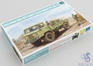 Russan GAZ-66 Light Truck With ZU-23-2 1/35 [Trumpeter]