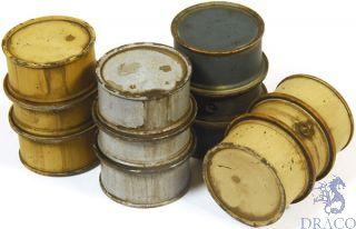 Vallejo Diorama Accessories 201: German Fuel Drums #1 (4 pcs.) 1/35