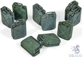 Vallejo Diorama Accessories 206: Allied Jerrycan set (12 pcs.) 1/35